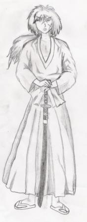 Kenshin in Pencil