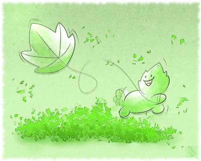 Huevember 27: Leaf Kite