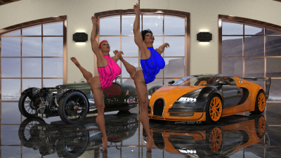 Clothed Power Ballerinas 1B