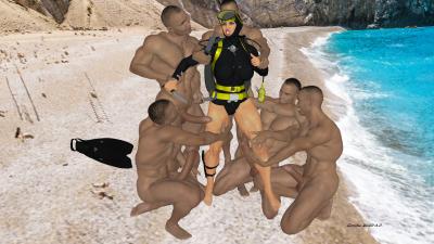 Horny Frogwoman Trips 13