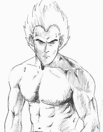 Vegeta - Shirtless