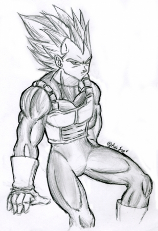 Vegeta sitting around