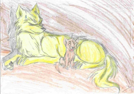 Happy little wolf!