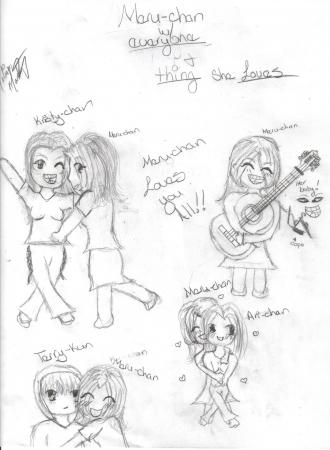 Meru-chan and her Friends