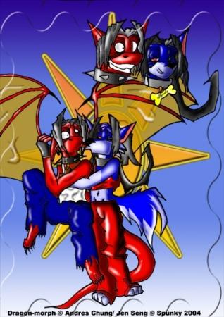 Dragon-morph meet Spunky