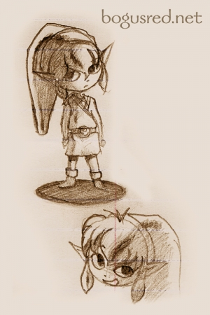 Wind Waker Link sketches