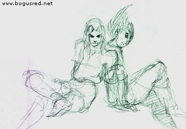 Link and Vegeta doodle