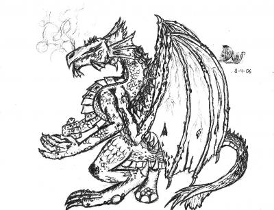 Fine Dragon Sketch