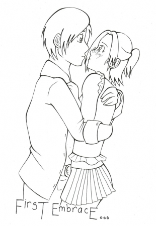 First Embrace [lineart]