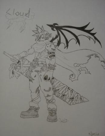 Cloud in Kingdom Hearts