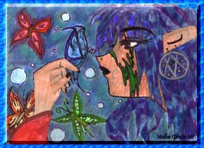Fairy Glazing at Butterflies