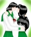 Yuka and Kagome by inuyashaloverr