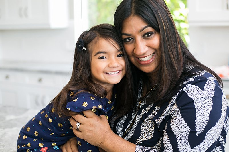 Happy mother and daughter who are Blueberry Pediatrics members