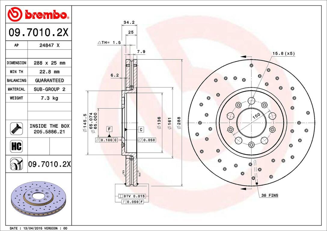 2x BREMBO Brake Disc TWO-PIECE FLOATING DISCS LINE 09.B085.13