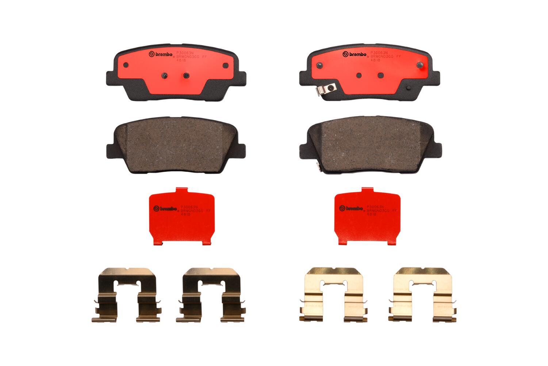 Rear Ceramic Brake Pads for Entourage Equus Genesis Coupe Santa Fe Sport Sedona