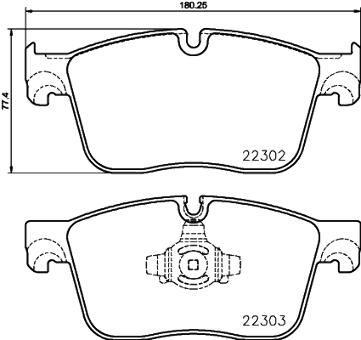 Fits Jaguar XF XK Super V8 S-Type R VDP Front Brake Pads Ceramic Brembo P36019N