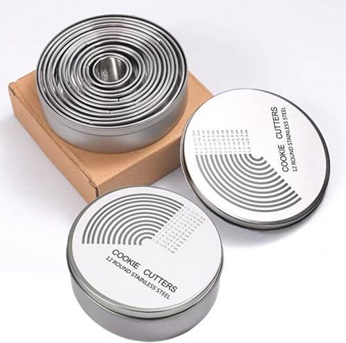 Coppapasta Rotondo in Acciaio Inox Zitfri con la scatola per contenerli e conservarli