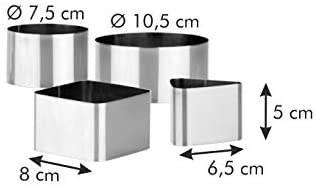Coppapasta Tescoma Quadrato Triangolare e Circolare - Dimensioni