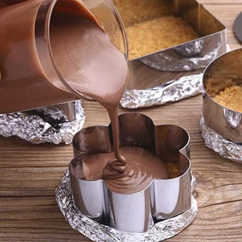 Preparazione dolce al cioccolato con il Coppapasta in Acciaio inox Kaishane