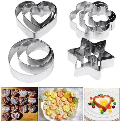 Set di Coppapasta Amison con diverse forme: a cerchio, stella, cuore, fiore