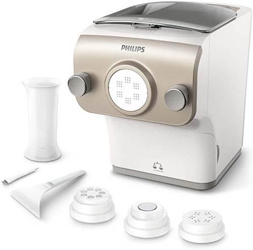 Philips Pasta Maker Avance Hr2380/05 Bianco Champagne con Accessori e Trafile