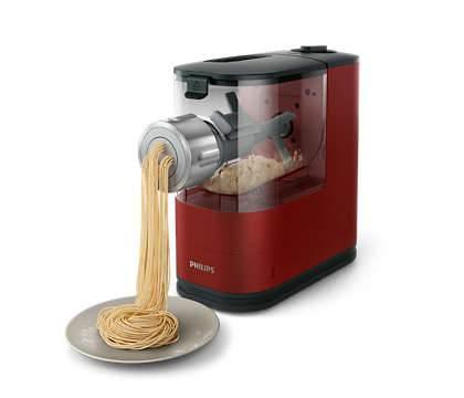 Pasta Maker Viva Hr2345/39 in azione durante l'Estrusione della pasta