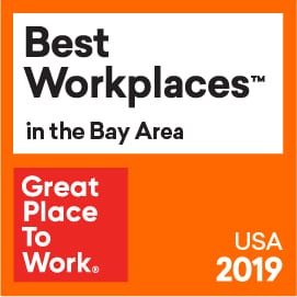 Great Place to Work Best Workplaces in the Bay Area 2019 logo
