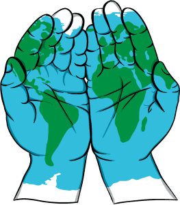 Blue Beyond vision hands live as global citizens
