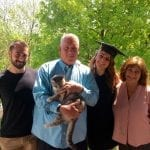 Karen Papa with family at graduation blue beyond consulting bay area