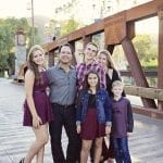 dina gomez with family blue beyond consulting bay area