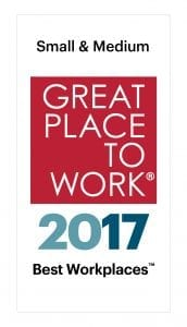 small and medium great place to work certified 2017 logo