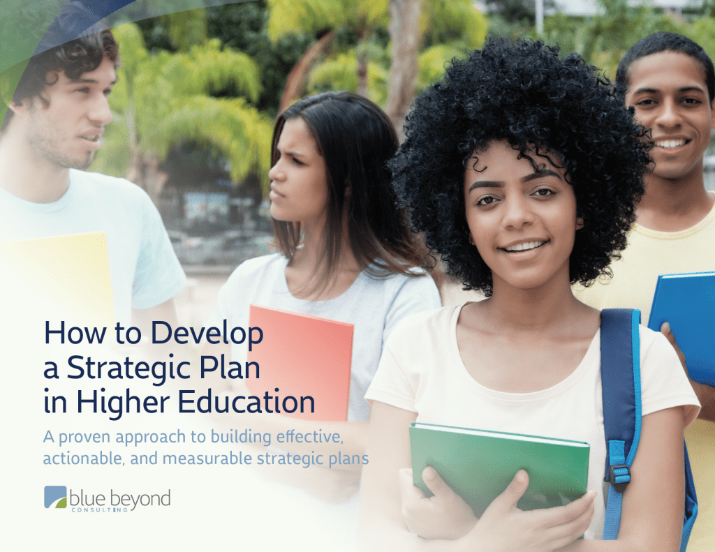 how to develop a strategic plan in higher education ebook cover image