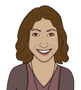karen papa illustrated headshot blue beyond consulting author