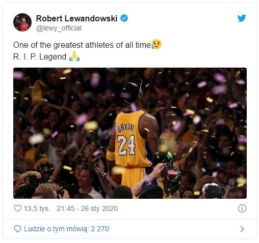 Robert żegna Legendę NBA