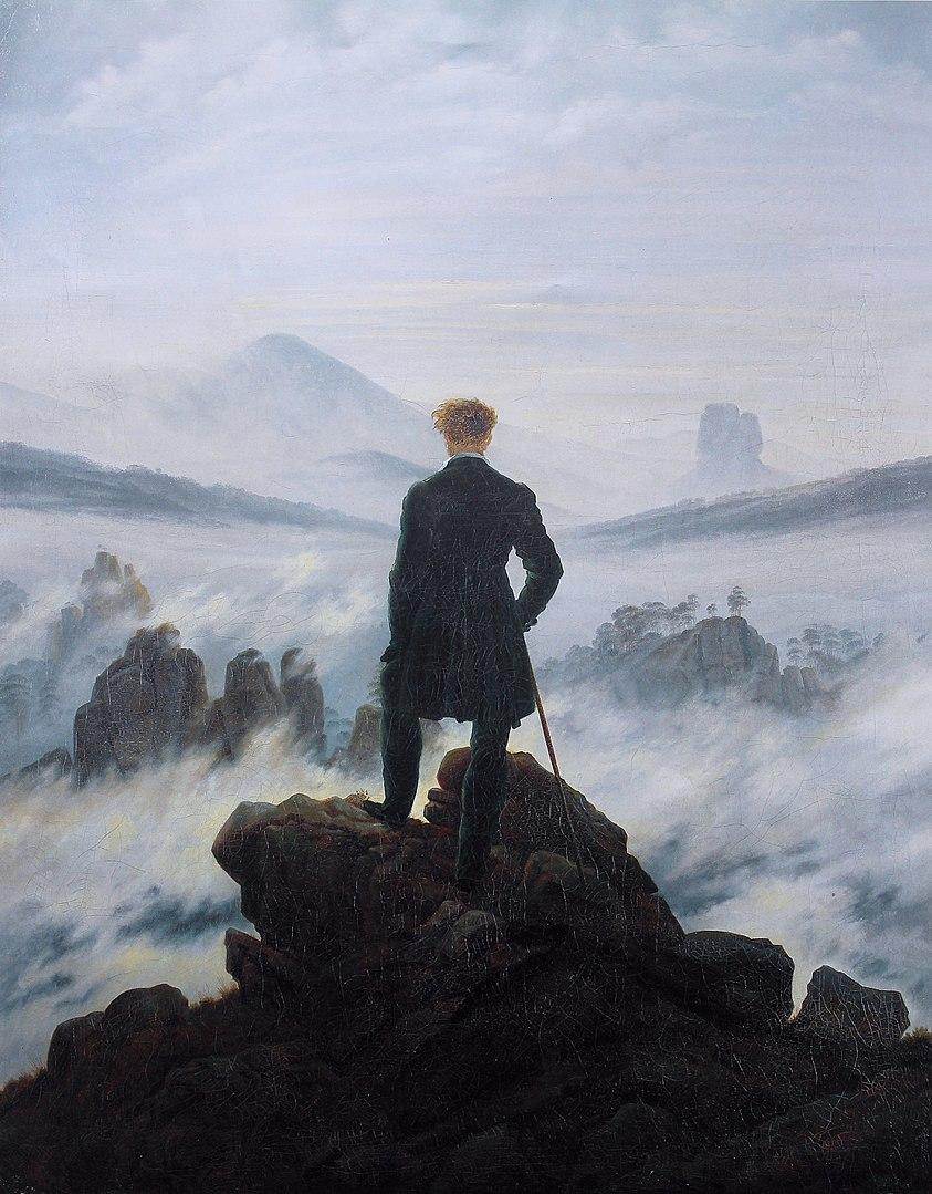 """Caspar David Friedrich """"Wędrowiec nad morzem mgły""""   Wikipedia"""