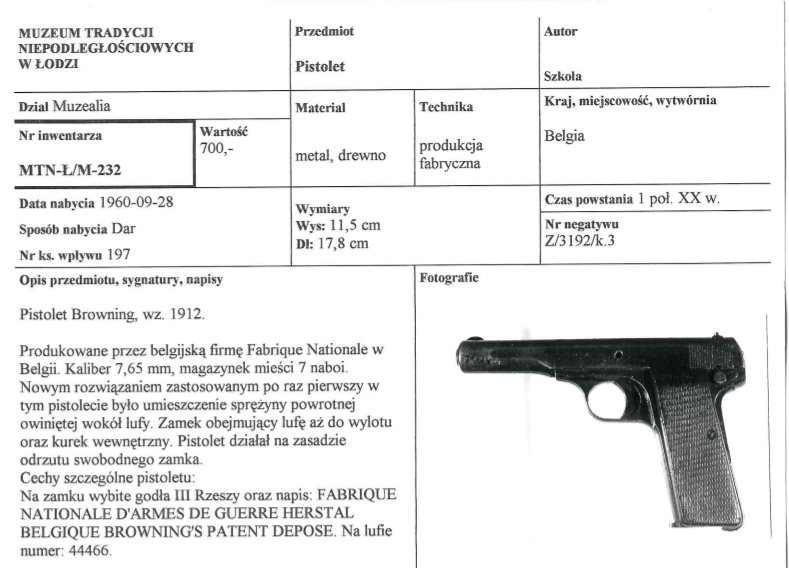 Pistolet Browning
