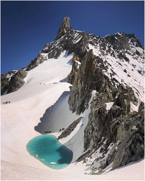 Lake discovered in Alps, At 11000 Ft, There Is A Lake Where There Was Snow Just 10 Days