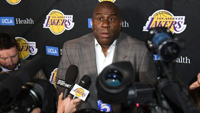 Leak from Magic Johnson meeting hurt Lakers bid to sign Kawhi Leonard