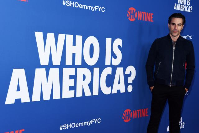 Sacha Baron Cohen thanks Dick Cheney, Sarah Palin after receiving 3 Emmy nominations