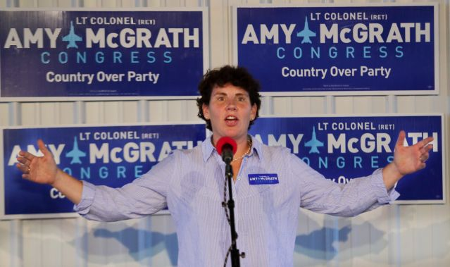 Amy McGrath says she will take on Mitch McConnell in 2020 US Senate race