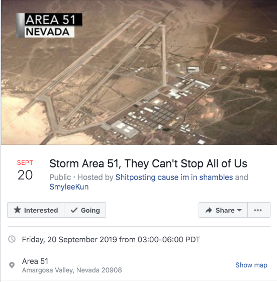 Storm Area 51: More than 600,000 people sign up to raid secretive military base to see them aliens