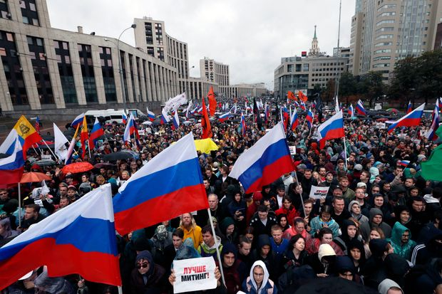 Moscow Antigovernment Protest Draws Tens of Thousands Nearly 50,000 people attended rally against deteriorating political freedoms and living standards