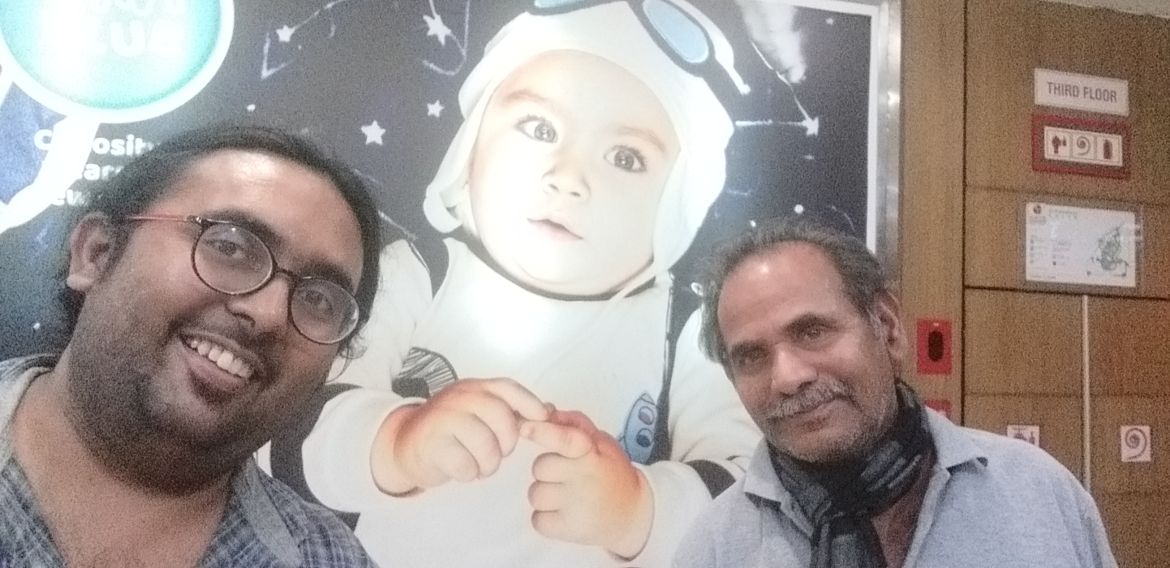 Dad me n astronaut baby