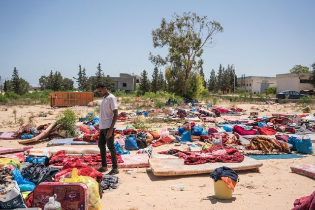 Devastating Aftermath of an Airstrike That Killed 53 Migrants at a Libyan Detention Center