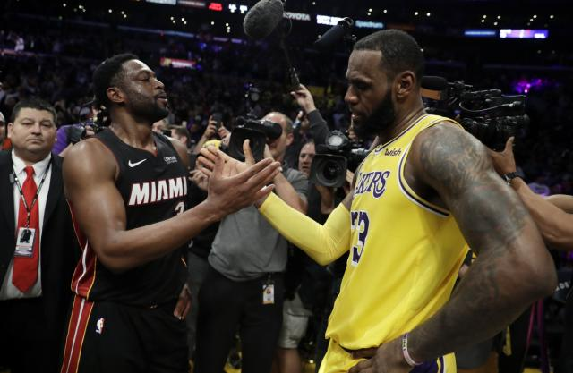 LeBron James to Dwyane Wade: 'It was either ending (in Los Angeles) or at The Garden'