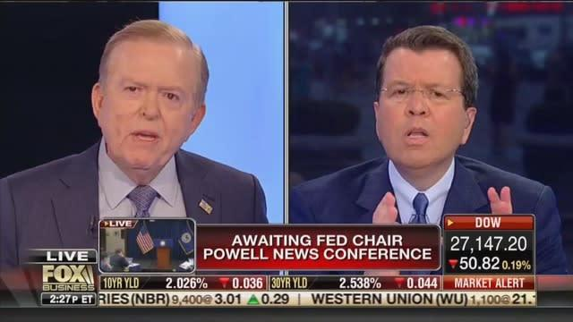 Lou Dobbs Lashes Out at Fox Business Host Who Confronts Him About Trumps Exploding Debt