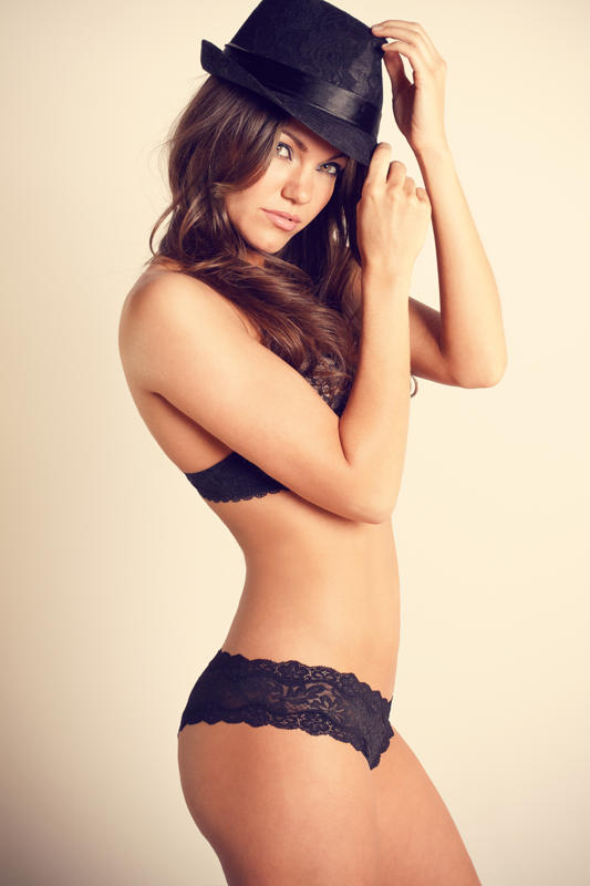 Black Top Hat With Undies To Match