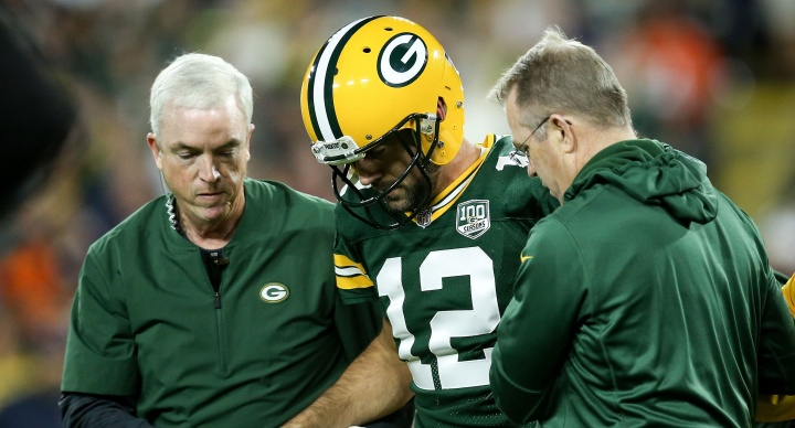 Aaron Rodgers to work with rehab group at practice, status is day by day