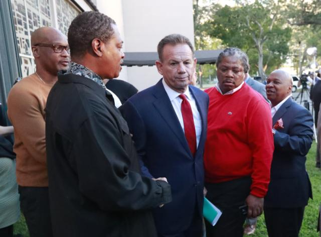Florida Gov. Ron DeSantis' decision to suspend the sheriff who oversaw the response to the Parkland school shooting was a knee-jerk reaction based on politics, not facts, a lawyer said Tuesday as a Senate hearing began on whether to uphold the suspension.  The lawyer for suspended Broward County Sheriff Scott Israel portrayed DeSantis as using the deaths of 17 students and staff members at Marjory Stoneman Douglas High School for political gain, saying DeSantis was promising to remove Israel even before the governor was elected in November.