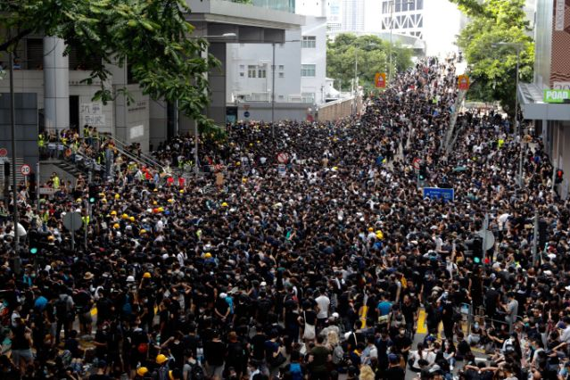 Hong Kong protests flare anew after demands unmet